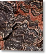 Banded Gneiss Rock Metal Print