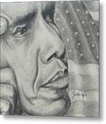 Barack Obama Metal Print by Stephen Sookoo
