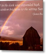 Barn And Rainbow Poster Metal Print