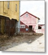 Barn Yard Metal Print