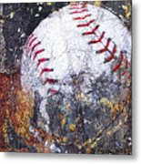 Baseball Art Version 6 Metal Print