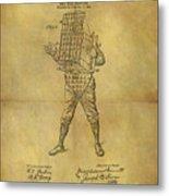 Baseball Catcher's Mask Patent Metal Print