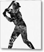 Baseball Player Metal Print