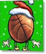 Basketball Christmas Metal Print