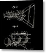 Basketball Practice Device Patent 1960 Part 2 Metal Print