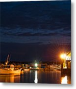 Bass Harbor At Night Metal Print