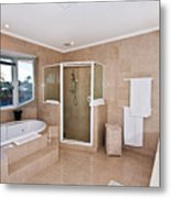 Bathroom And Spa Bath Metal Print