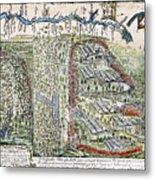 Battle Of Lake George, 1755 Metal Print