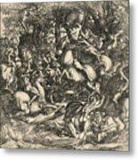 Battle Of Nude Men Metal Print