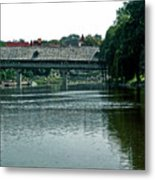 Bavarian Covered Bridge Metal Print