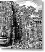 Bayon Faces  Metal Print