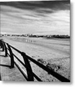 Beach At Trearddur Bay Anglesey North Wales Uk Metal Print