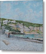 Beach Of Sejanus And Punta Scutolo Metal Print