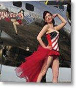 Beautiful 1940s Style Pin-up Girl Metal Print by Christian Kieffer