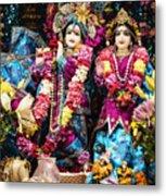 Beautiful Image Of Krishna And Radhe From Boise Hare Krishna Temple Metal Print