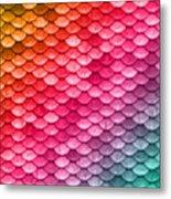 Beautiful Pastel Diagonal Rainbow Spectrum II Mermaid Fish Scales Metal Print
