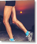 Beautiful Sportive Womens Legs Metal Print