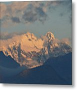 Beautiful View Of The Dolomites Mountains In Italy  Metal Print