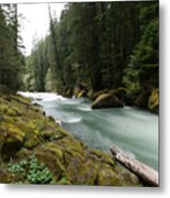 Beautiful White Water Metal Print