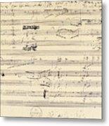Beethoven Manuscript, 1826 Metal Print by Granger
