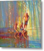 Before The Swim Metal Print