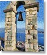 Belfry On Palamidi Castle Metal Print