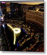 Bellagio Hotel Fountain, Las Vegas Metal Print