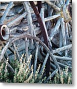 Belmont Broken Wagon Wheels 1649 Metal Print