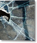Belmont Cracked Window And Shadow 1599 Metal Print