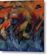 Beneath The Waves Metal Print by Linda Sannuti