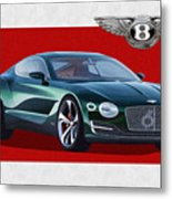 Bentley E X P  10 Speed 6 With  3 D  Badge  Metal Print
