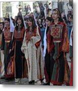 Bethlehemites In Traditional Dress Metal Print