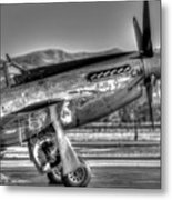 Betty Jane P51d Mustang At Livermomre Metal Print