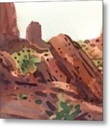 Between The Buttes Metal Print