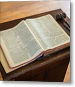 Bible And Gavel Metal Print