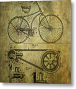 Bicycle Patent From 1890 Metal Print