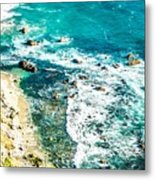 Big Sur California Coastline On Pacific Ocean Metal Print