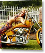 Bikes And Babes Metal Print by Clayton Bruster