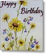 Birthday Card Metal Print