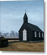 Black Church Of Budir, Iceland Metal Print