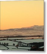 Black Mountains And Vale Of Usk Metal Print