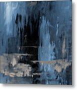 Blue Abstract 12m2 Metal Print