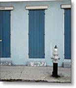 Blue And Silver At 1243 Metal Print