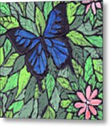 Blue Butterfly Two Metal Print