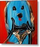 Blue Dog Metal Print