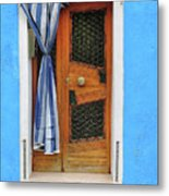Blue In Burano Metal Print