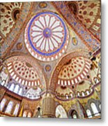 Blue Mosque Interior Metal Print