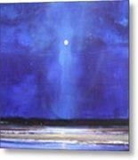 Blue Night Magic Metal Print