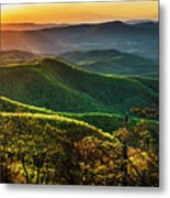 Blue Ridge Sunset Metal Print