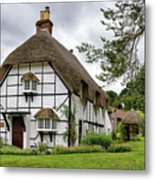 Bluebell Cottage Micheldever Metal Print